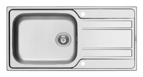 Pyramis Athena Deep Bowl Inset Sink - 50x100cm Stainless Steel
